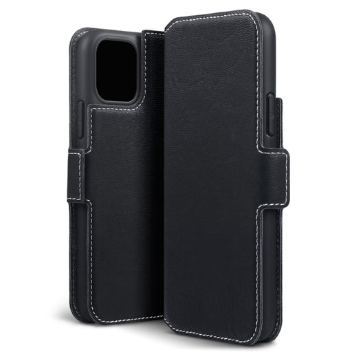 Terrapin Apple iPhone 2019 5.8 Inch Slim Profile PU Leather Wallet Case - Black
