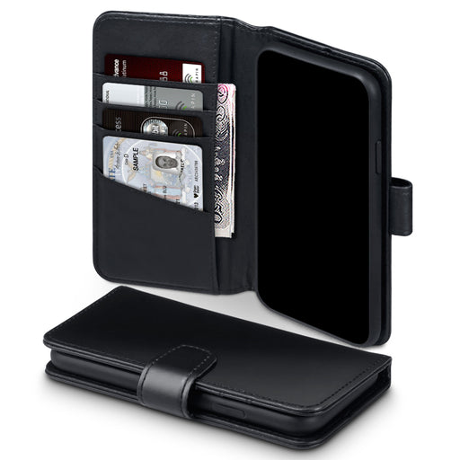 Terrapin Apple iPhone 2019 6.1 Inch Genuine Leather Wallet Case - Black