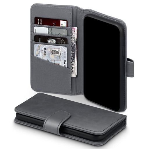 Terrapin Apple iPhone 2019 6.1 Inch Genuine Leather Wallet Case - Grey