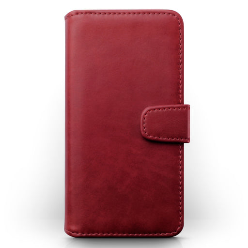 Terrapin Apple iPhone 2019 6.1 Inch Genuine Leather Wallet Case - Red