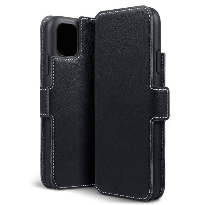 Terrapin Apple iPhone 2019 6.1 Inch Slim Profile PU Leather Wallet Case - Black