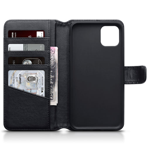 Terrapin Apple iPhone 2019 6.5 Inch Genuine Leather Wallet Case - Black