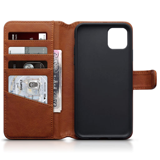 Terrapin Apple iPhone 2019 6.5 Inch Genuine Leather Wallet Case - Cognac