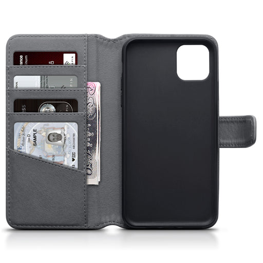 Terrapin Apple iPhone 2019 6.5 Inch Genuine Leather Wallet Case - Grey