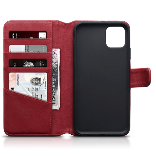 Terrapin Apple iPhone 2019 6.5 Inch Genuine Leather Wallet Case - Red