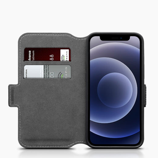 Terrapin iPhone 12 5.4 Inch Low Profile PU Leather Wallet Case - Black