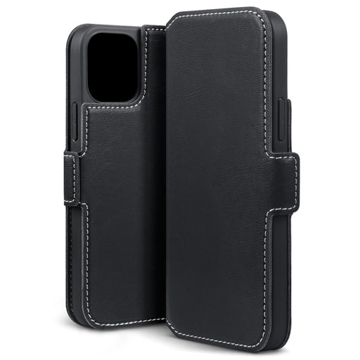 Terrapin iPhone 12 6.1 Inch Low Profile PU Leather Wallet Case - Black