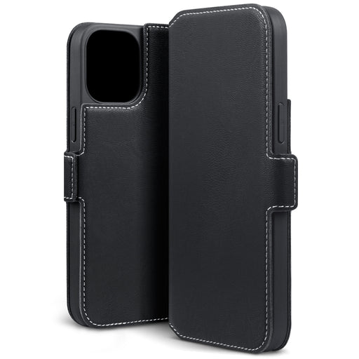 Terrapin iPhone 12 6.7 Inch Low Profile PU Leather Wallet Case - Black