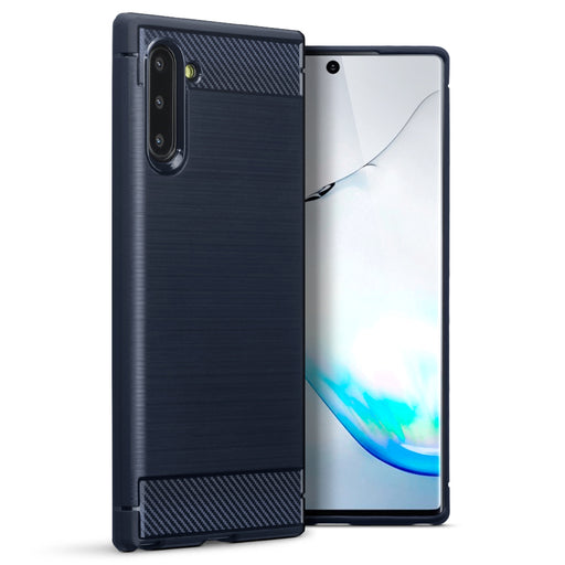 Terrapin Samsung Galaxy Note 10 Carbon Fibre Design Slim Gel Case - Blue