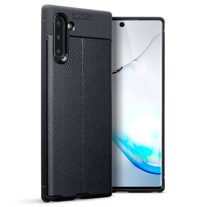 Terrapin Samsung Galaxy Note 10 Leather Design Slim Gel Case - Black