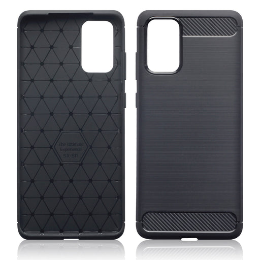 Terrapin Samsung Galaxy S20 Plus Carbon Fibre Brushed Effect TPU Gel Case - Black