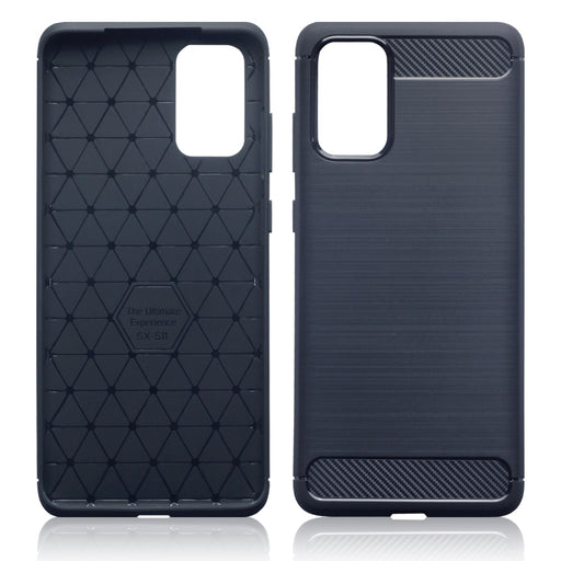 Terrapin Samsung Galaxy S20 Plus Carbon Fibre Brushed Effect TPU Gel Case - Dark Blue