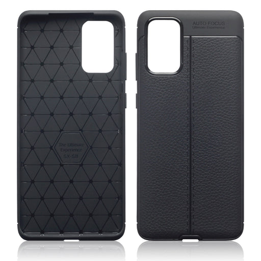 Terrapin Samsung Galaxy S20 Plus Leather Texture TPU Gel Case - Black