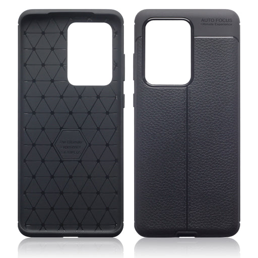 Terrapin Samsung Galaxy S20 Ultra Leather Texture TPU Gel Case - Black