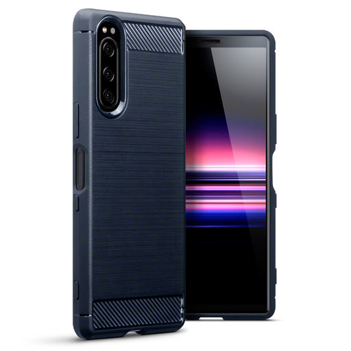Terrapin Sony Xperia 2 Carbon Fibre Design TPU Gel Case - Blue