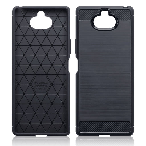 Terrapin Sony Xperia 20 Carbon Fibre Design TPU Gel Case - Black