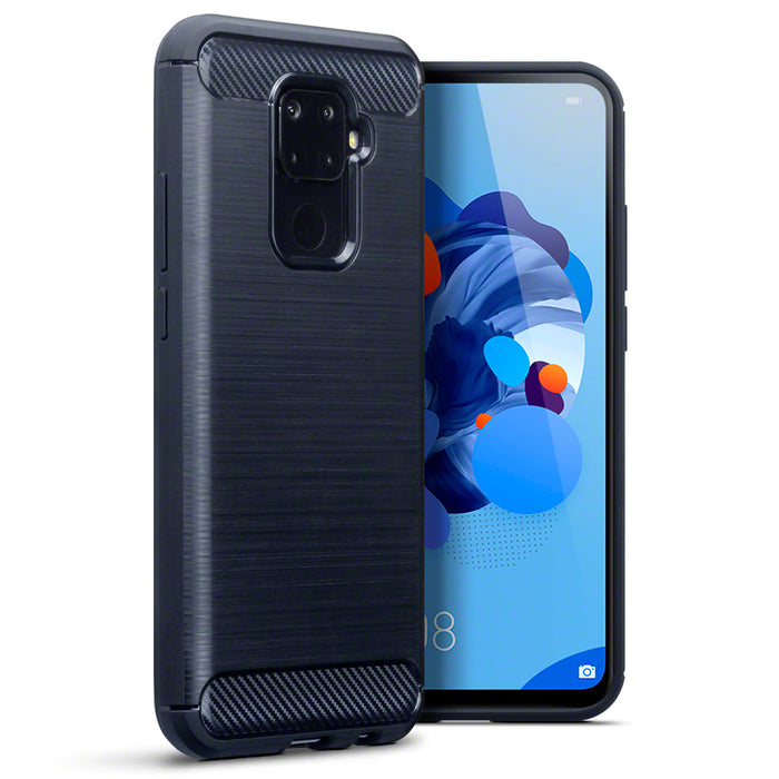 Terrapin Huawei Mate 30 Lite Carbon Fibre Design TPU Gel Case - Blue