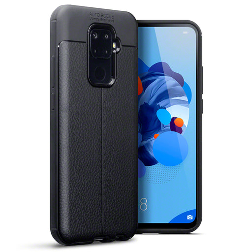 Terrapin Huawei Mate 30 Lite Leather Texture TPU Gel Case - Black