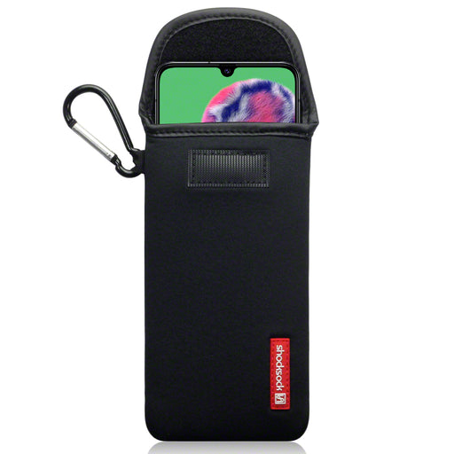 Shocksock Samsung Galaxy A90 5G Neoprene Pouch with Carabiner - Black