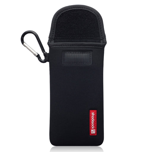 Shocksock Huawei P40 Neoprene Pouch with Carabiner - Black
