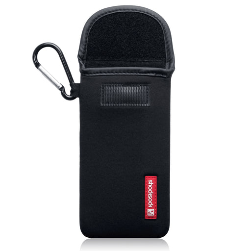 Shocksock Apple iPhone 2019 5.8 Inch Neoprene Pouch Case with Carabiner - Black
