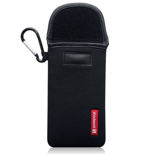 Shocksock Apple iPhone 2019 6.1 Inch Neoprene Pouch Case with Carabiner - Black