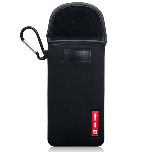 Shocksock Apple iPhone 2019 6.5 Inch Neoprene Pouch Case with Carabiner - Black