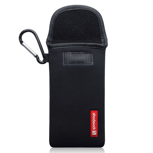 Shocksock iPhone 12 6.1 Inch Neoprene Pouch with Carabiner - Black