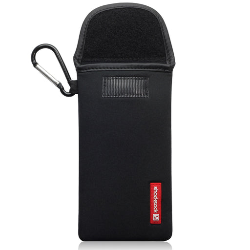 Shocksock iPhone 12 6.7 Inch Neoprene Pouch with Carabiner - Black