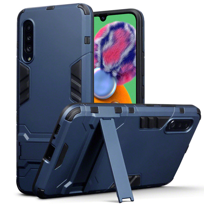 Terrapin Samsung Galaxy A90 5G Dual Layer Shock Resistant Case with Stand - Dark Blue