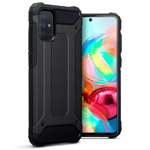 Terrapin Samsung Galaxy A71 Double Layer Impact Case - Black
