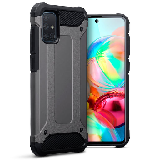 Terrapin Samsung Galaxy A71 Double Layer Impact Case - Gunmetal