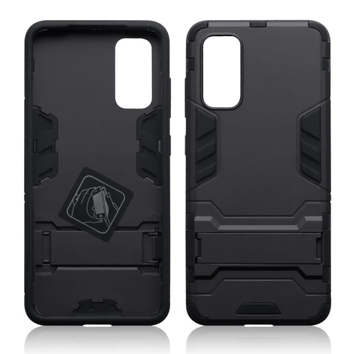 Terrapin Samsung Galaxy S20 Dual Layer Shock Resistant Case with Stand - Black