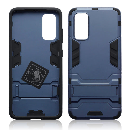 Terrapin Samsung Galaxy S20 Dual Layer Shock Resistant Case with Stand - Dark Blue