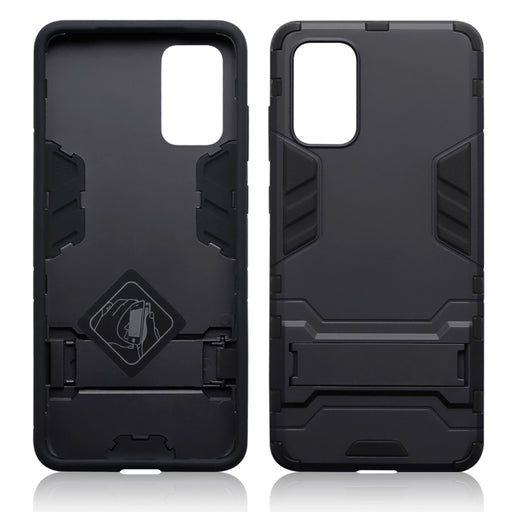 Terrapin Samsung Galaxy S20 Plus Dual Layer Shock Resistant Case with Stand - Black