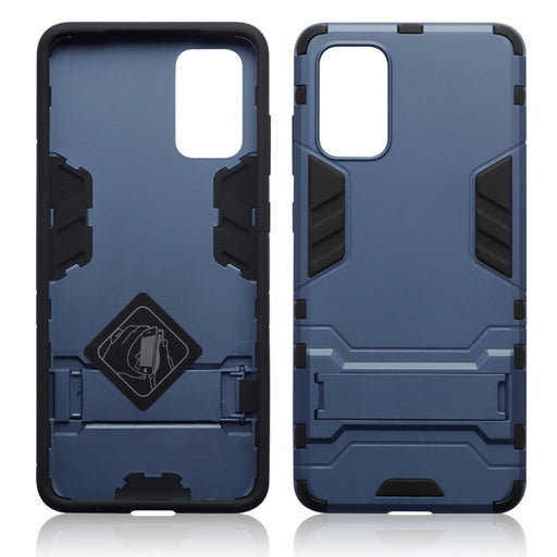 Terrapin Samsung Galaxy S20 Plus Dual Layer Shock Resistant Case with Stand - Dark Blue