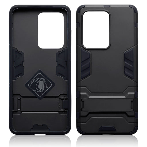 Terrapin Samsung Galaxy S20 Ultra Dual Layer Shock Resistant Case with Stand - Black