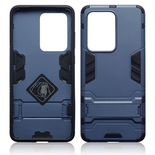Terrapin Samsung Galaxy S20 Ultra Dual Layer Shock Resistant Case with Stand - Dark Blue