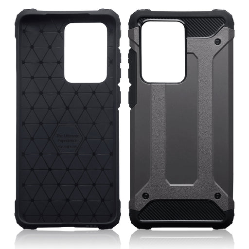 Terrapin Samsung Galaxy S20 Ultra Double Layer Impact Case - Gunmetal