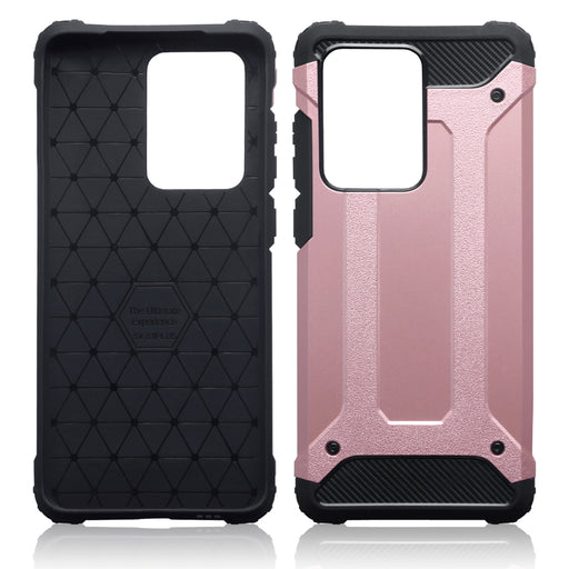 Terrapin Samsung Galaxy S20 Ultra Double Layer Impact Case - Rose Gold