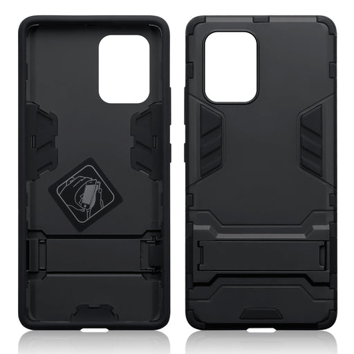 Terrapin Samsung Galaxy A91 / S10 Lite Dual Layer Shock Resistant Case with Stand - Black
