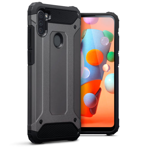 Terrapin Samsung Galaxy A11 Double Layer Impact Case - Gunmetal