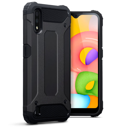 Terrapin Samsung Galaxy A01 Double Layer Impact Case - Black