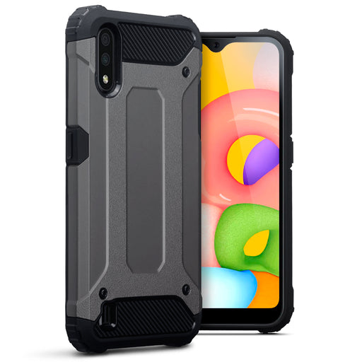 Terrapin Samsung Galaxy A01 Double Layer Impact Case - Gunmetal