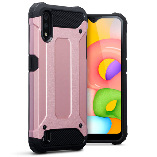 Terrapin Samsung Galaxy A01 Double Layer Impact Case - Rose Gold