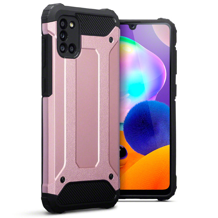 Terrapin Samsung Galaxy A31 Double Layer Impact Case - Rose Gold