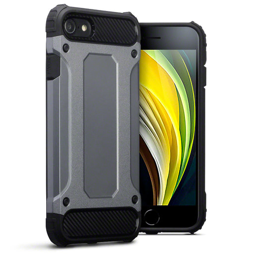 Terrapin Apple iPhone 7/8/SE 2020 Double Layer Impact Case - Gunmetal