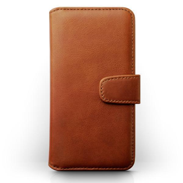 Terrapin Real Leather Wallet Case for Samsung Galaxy A40 - Cognac