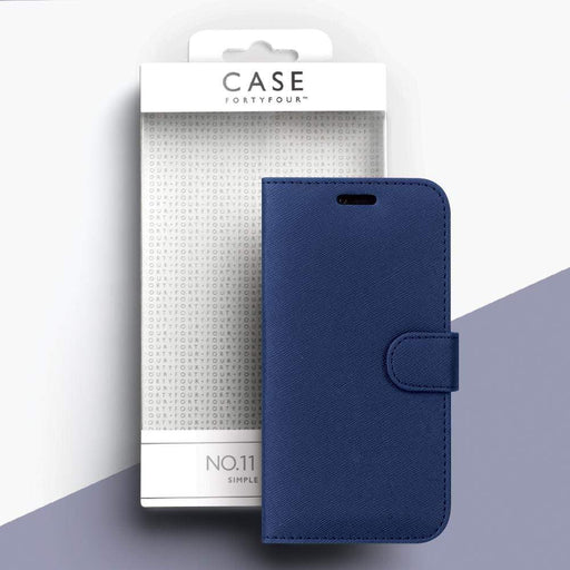Case FortyFour Cases Case FortyFour No.11 iPhone 8/7 Cross Grain Dark Blue