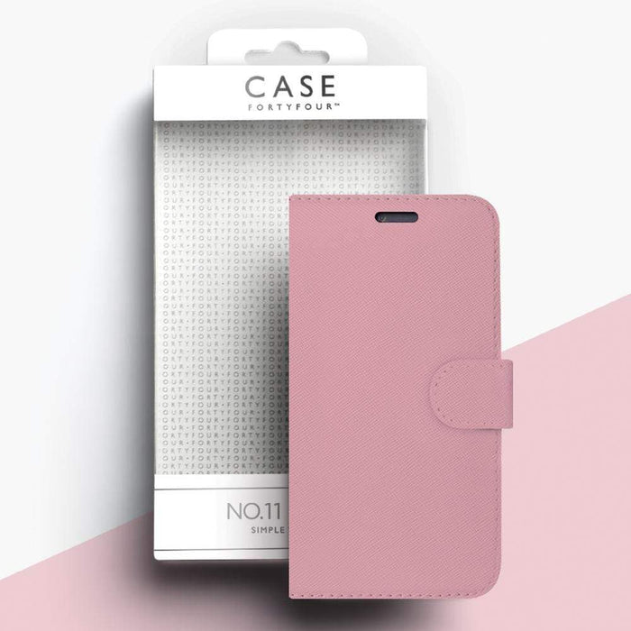 Case FortyFour Cases Case FortyFour No.11 iPhone XS/X Cross Grain Light Pink